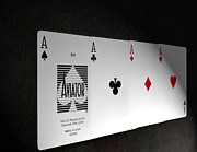 4 Aces Prints - Four of a Kind Print by Arthur Thompson