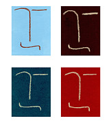 Rectangles Drawings Metal Prints - Four of A Kind Metal Print by Michaela Mitchell