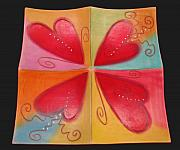 Creek Ceramics - Four of Hearts Platter by Double Creek Pottery