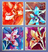 Orchids Tapestries - Textiles - Four Orchids by Beena Samuel