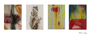 Xoanxo Cespon Framed Prints - Four Seasons in Abstract Framed Print by Xoanxo Cespon