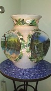 Spring Landscape Ceramics - Four Seasons by Luis Jaime