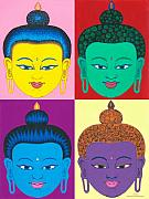 Illustrative Prints - Four Seasons of Buddha Print by Michelle  Darensbourg