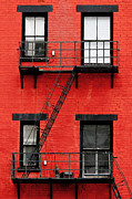Ohio Red Prints - Four Windows Print by Keith Allen