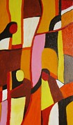 Conversing Painting Originals - Four women by Nedunseralathan R