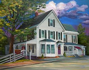 Historic Home Painting Prints - Fournier Funeral Home Print by Nancy Griswold