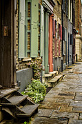Townhouses Prints - Fournier Street Print by Heather Applegate
