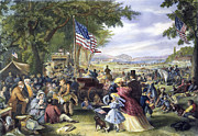 Fourth Of July Prints - Fourth Of July, 1875 Print by Granger