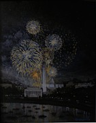 4th Paintings - Fourth of July by Gene Gregorio
