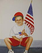 Boys Framed Prints - Fourth of July Framed Print by Joni McPherson