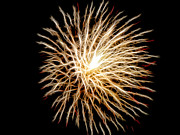 Pyrotechnics Prints - Fourth of July Print by Mariola Bitner