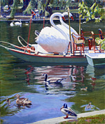 Boston Paintings - Fowl Play in Boston by Candace Lovely