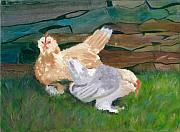 Stonewall Painting Metal Prints - Fowl Play Metal Print by Paula Emery
