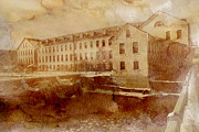 Downtown Appleton Prints - Fox River Mills Print by Joel Witmeyer