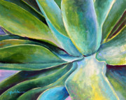 Succulent Prints - Fox Tail Agave 1 Print by Athena  Mantle