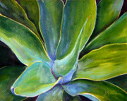 Plants Prints - Fox Tail Agave 2 Print by Athena  Mantle
