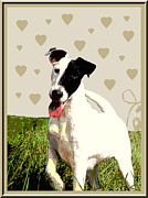 Fox Terrier Puppy Framed Prints - Fox Terrier Smooth Framed Print by One Rude Dawg Orcutt
