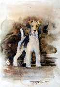 Prairie Dog Originals - Fox terrier wire by Mugur Popa