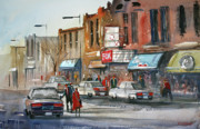 City Scene Paintings - Fox Theater - Stevens Point by Ryan Radke