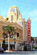 East Bay Digital Art Framed Prints - Fox Theater in Oakland California Framed Print by Wingsdomain Art and Photography