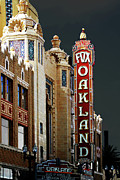 Old Houses Prints - Fox Theater . Oakland California Print by Wingsdomain Art and Photography