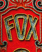 Old Theater Framed Prints - Fox Theater Oakland Sign Framed Print by Wingsdomain Art and Photography
