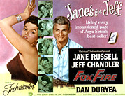 1955 Movies Prints - Foxfire, Jane Russell, Jeff Chandler Print by Everett
