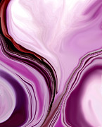 Foxglove Flowers Digital Art Posters - Foxglove Abstract1 Poster by Linnea Tober