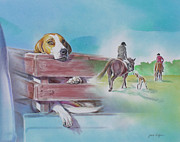 Foxhound Prints - Foxhound Print by Gail Dolphin