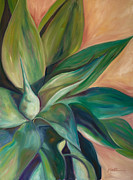 Botanical Metal Prints - Foxtail Agave 4 Metal Print by Athena  Mantle