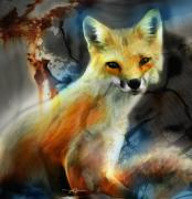 Fox Mixed Media - Foxy Baby by Bob Salo