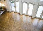 Wood Floors Prints - Foyer and French Doors Print by Andersen Ross