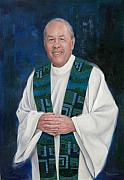 Priests Paintings - Fr. Larry Olszewski by Richard Barone