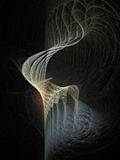 Threads Posters - Fractal Bonnet Poster by Ann Garrett