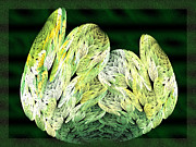 Cabbage Digital Art - Fractal Cabbage Leaf by Andee Photography