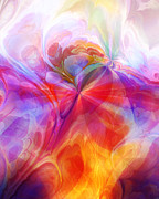 Meditative Digital Art - Fractal Desire by Ann Croon