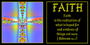 Hebrews Posters - Fractal Faith Hebrews 11 Poster by Rose Santuci-Sofranko