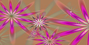 Fractal Flowers Print by Gina Manley