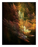 Apophysis Digital Art Prints - Fractal Forest Print by Bonnie Bruno