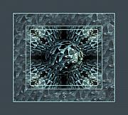 Sherry Holder Hunt Posters - Fractal Fragmented Poster by Sherry Holder Hunt