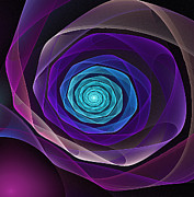 Modern Art Digital Art - Fractal Rose by Pam Blackstone