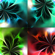 Fractal Seasons 2 Print by Stefan Kuhn