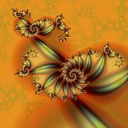 Abstract Digital Art - Fractal Shrimp on the Barbie by David April