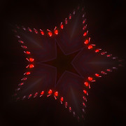 Spinning Digital Art - Fractal Star by Stefan Kuhn