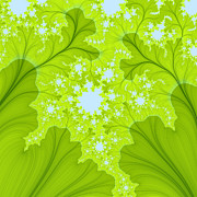 Green Leafs Originals - Fractal Tree by Maade Tuule
