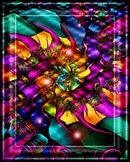 Hippie Posters - Fractalicious Magic Poster by Mimulux patricia no