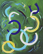 Communication Paintings - Fractured Chain of Thought by Donna Proctor