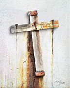 Cross Digital Art - Fractured Faith by Bill Fleming