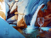 Wine Glass Paintings - Fragile Moments by Snake Jagger