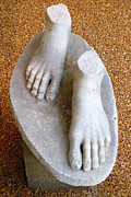 Greek Sculpture Framed Prints - Fragment Of Kouros Framed Print by Andonis Katanos